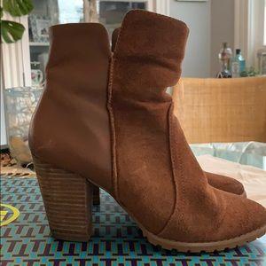 Tahari brown suede ankle boot